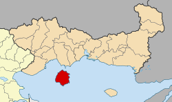 Thasos within East Macedonia and Thrace