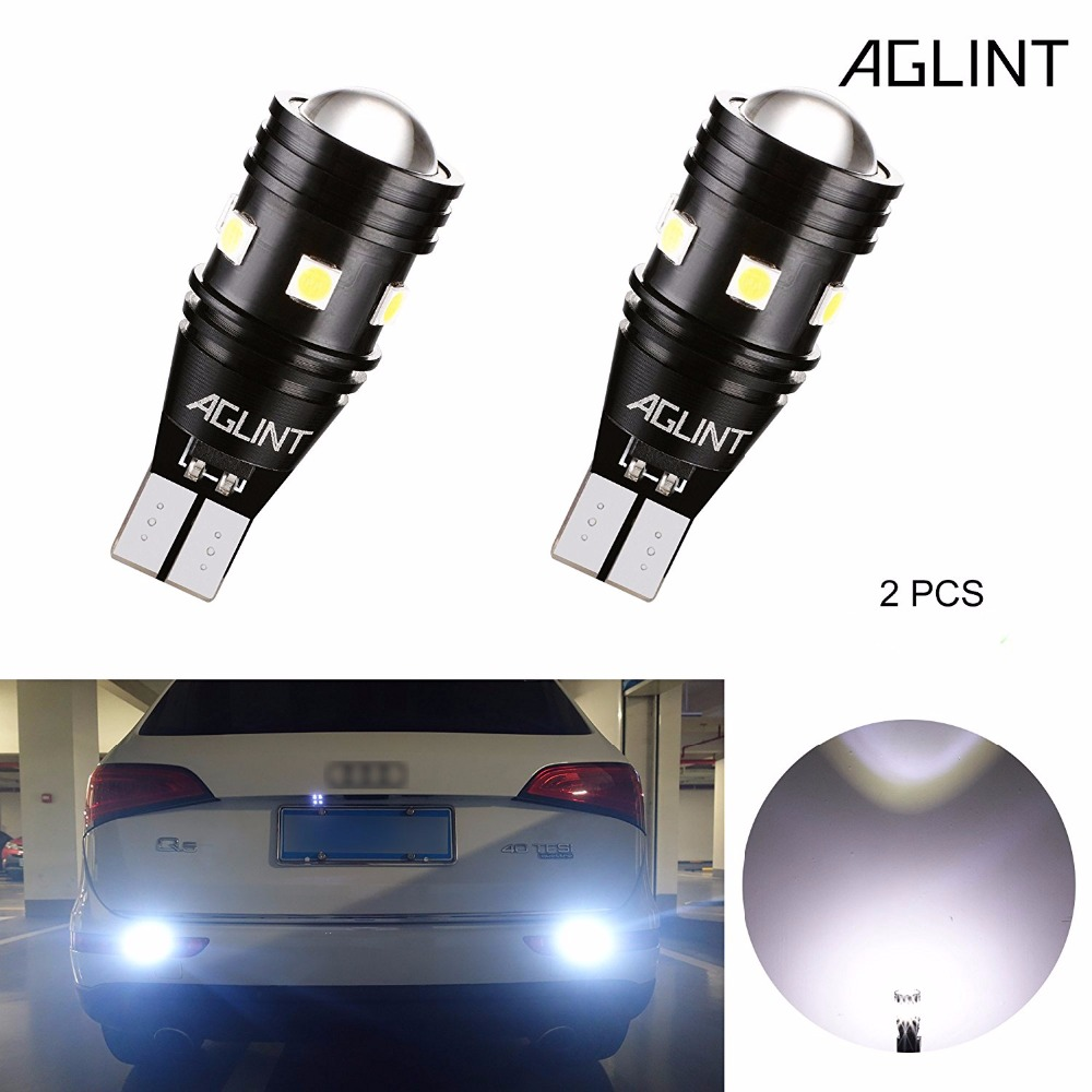 AGLINT 2PCS T15 T16 W16W 912 921 CANBUS Error Free LED Bulbs Car Back up  Reverse Light Super Bright 3030 SMD 9Chips 12 24V White-in Signal Lamp from