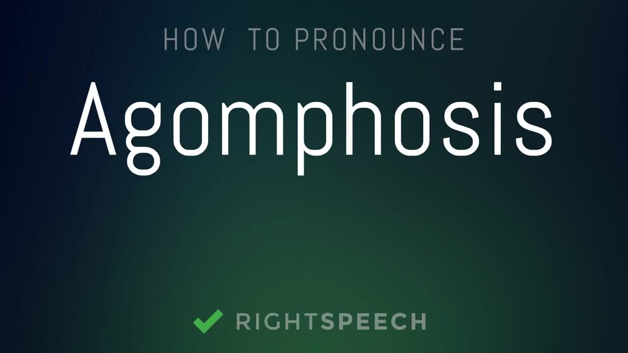 Agomphosis - How to pronounce Agomphosis GIF   Find, Make & Share Gfycat  GIFs