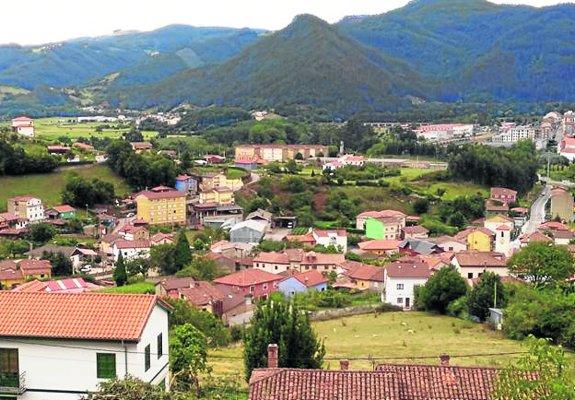 Vista general de la parroquia rural de Agones.