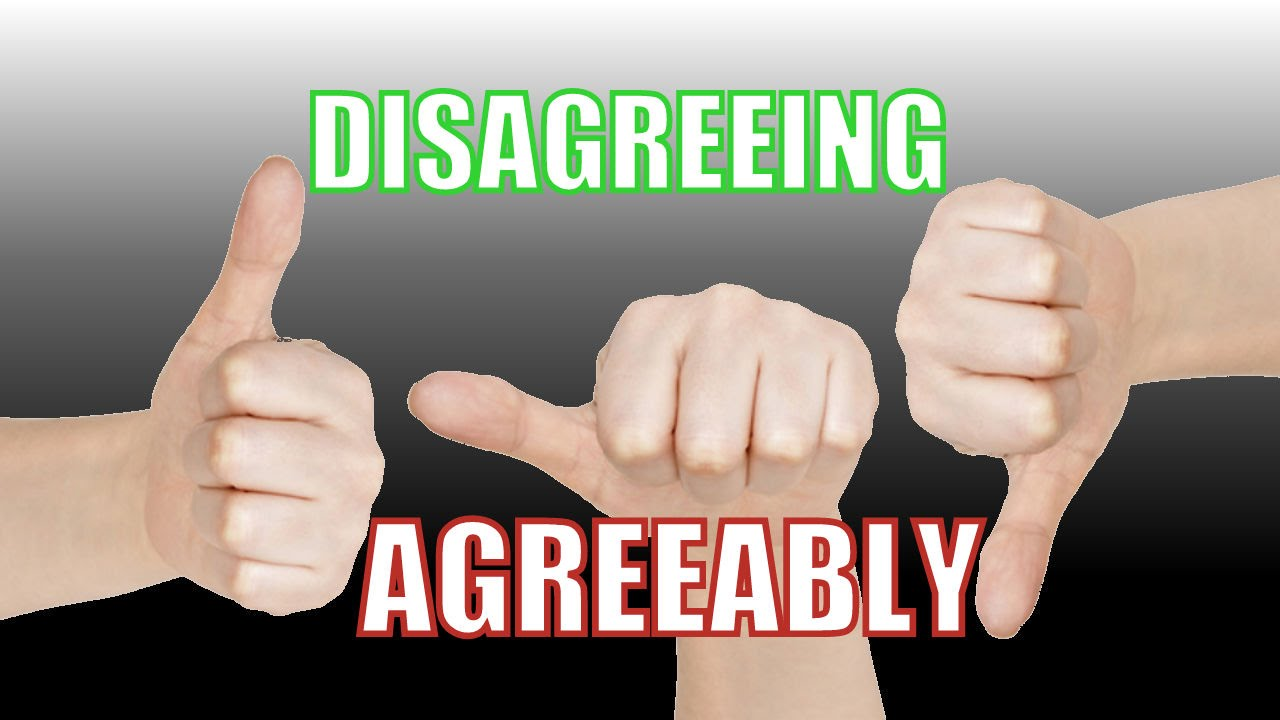 Disagreeing Agreeably