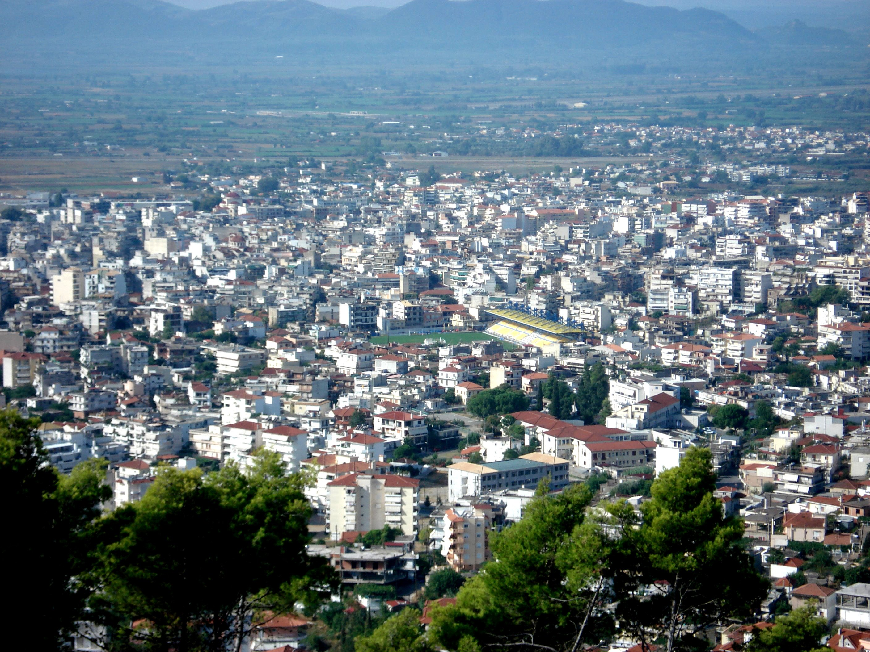 Agrinion (part), view from dasilio above by aris patelos