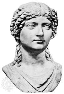 Agrippina the Younger, bust by an unknown artist; in the Museo Archeologico  Nazionale,