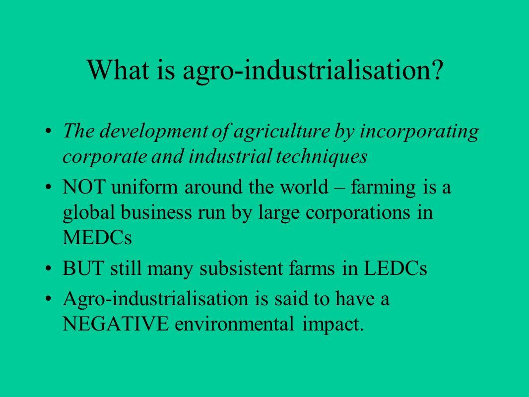 agro-industrialization