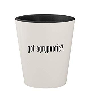 got agrypnotic? - Ceramic White Outer & Black Inner 1.5oz Shot Glass