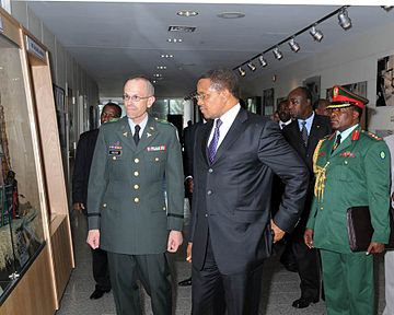 Dr. Jakaya Kikwete, President of Tanzania, with his aide-de-camp