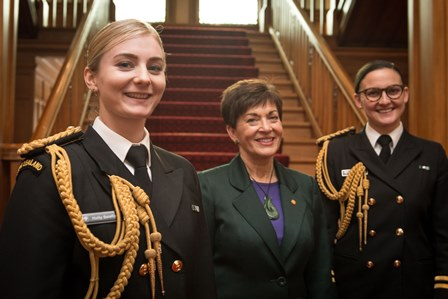 Aide-de-camp Lieutenant Holly Swallow (left), from Masterton, with