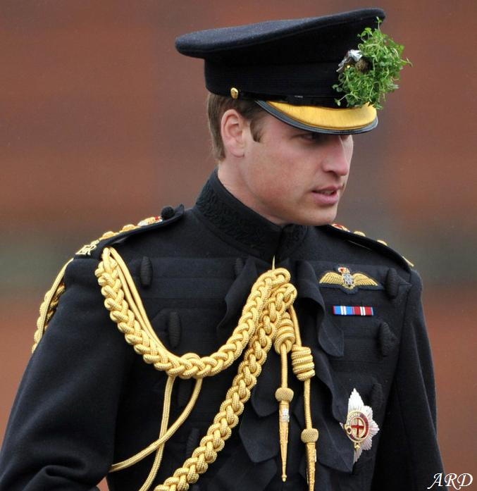 The Duke of Cambridge wearing his aide-de-camp insignia