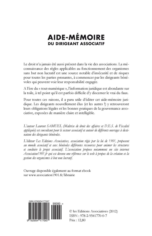 Buy Aide-Mémoire Du Dirigeant Associatif Book Online at Low Prices in India  | Aide-Mémoire Du Dirigeant Associatif Reviews & Ratings - Amazon.in