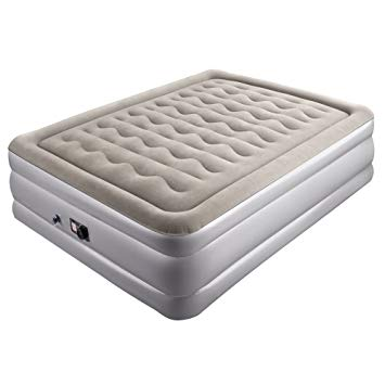 Sable Inflatable Air Bed Double Size Air Mattress with Built-in Electric  Pump and Repair