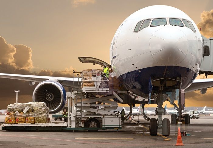Air cargo loading.
