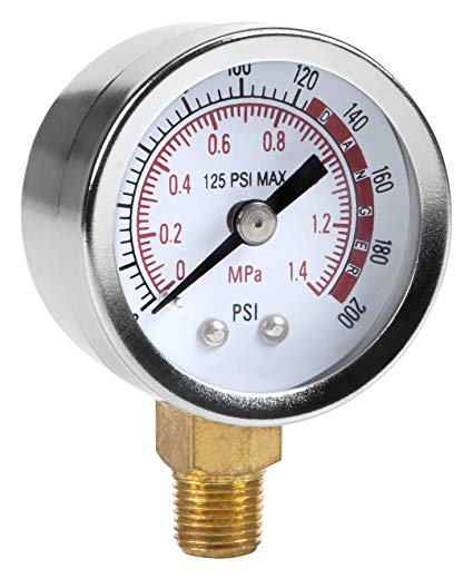 Traveller Location: Performance Tool 0-200 PSI Air Gauge for Air Tank Accessory  W10055: Home Improvement