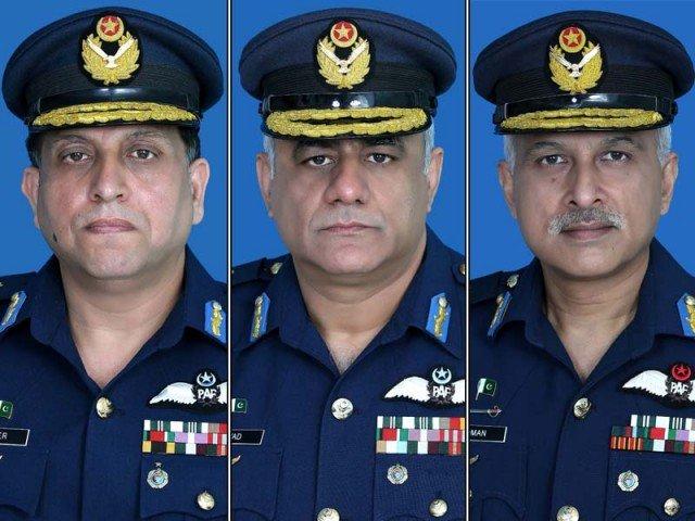 Air Marshal Zaheer Ahmed Babar, Air Marshal Javed Saeed and Air Marshal  Syed Noman Ali