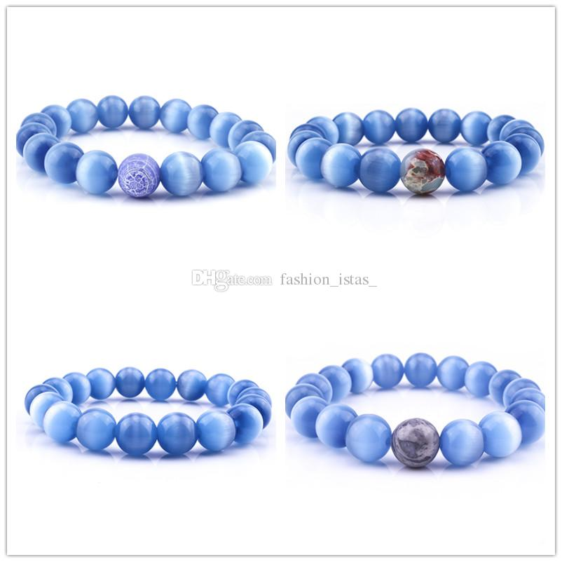 2019 8mm Natural Blue Cat Eye Stone Bracelets Air Slake For Women Girl  Bracelet Fashion Jewelry Accessories From Fashion_istas_, $1.02 | Traveller Location