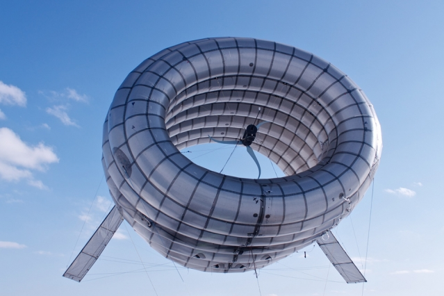 The Buoyant Air Turbine (or BAT), developed by Altaeros Energies, uses an
