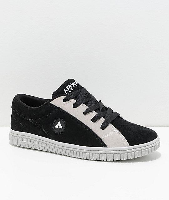 Airwalk Random Black & White Skate Shoes