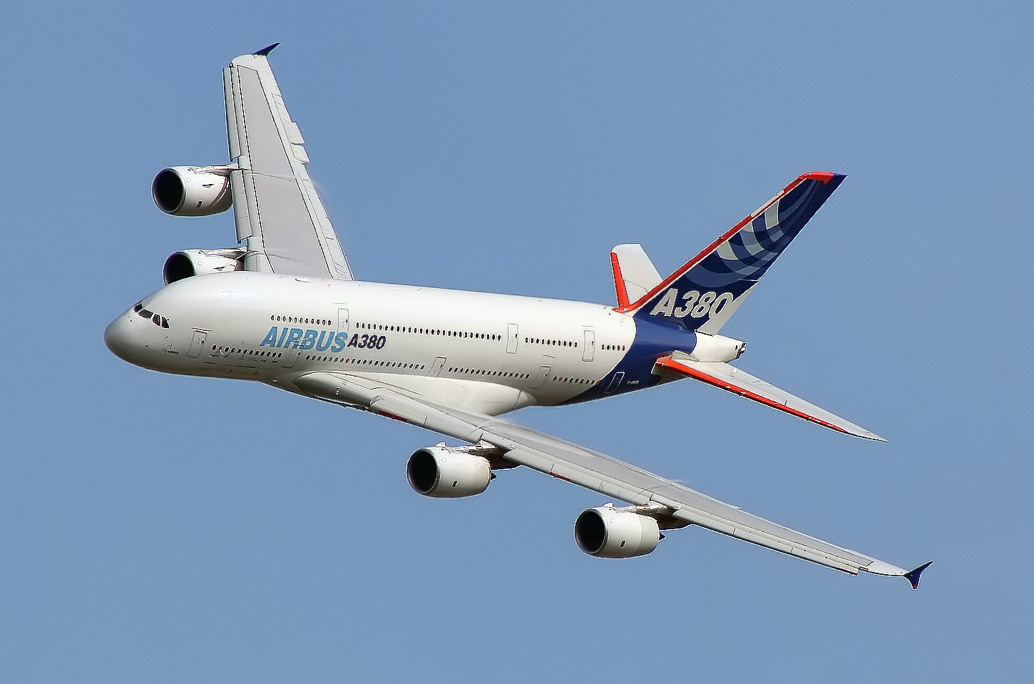 The Airbus A380, the largest airliner