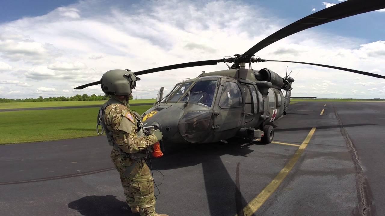 Blackhawk Helicopter Departing Mt Pleasant Texas Air Cav Ft Hood