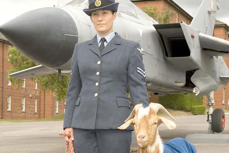 Aircraftman George is the latest in a long line of mascots at RAF Halton  that dates