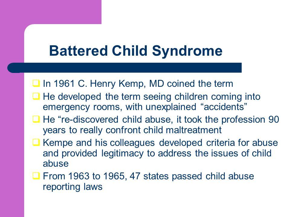 Battered Child Syndrome