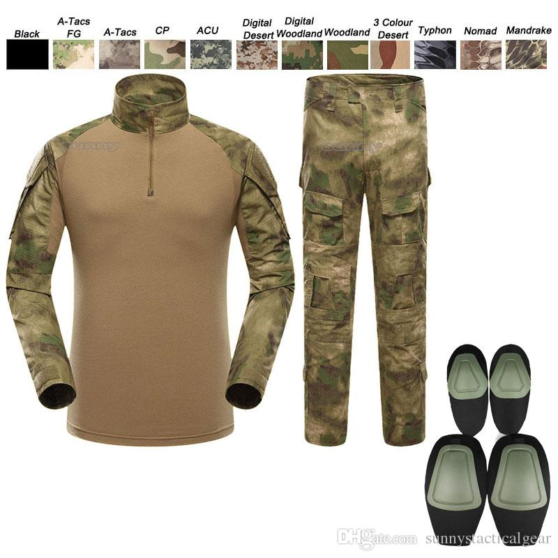 2019 Outdoor Battle Dress Uniform Tactical BDU Set Army Combat Clothing  Camouflage US Uniform With Kneepad Elbow Pads SO05 008 From  Sunnystacticalgear,