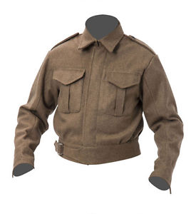 Image is loading WW2-British-Army-Battle-dress-blouse-p37-Large-