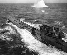 U-848 under attack by a US Navy Consolidated PB4Y-1 Liberator in November  1943. The Battle of the Atlantic
