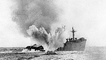 U-boat sinks ship in Atlantic