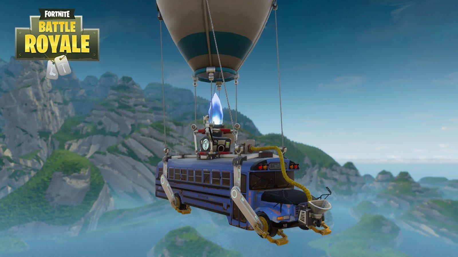 Fortnite Battle Bus Hot Air Balloon Appears Ready for E3