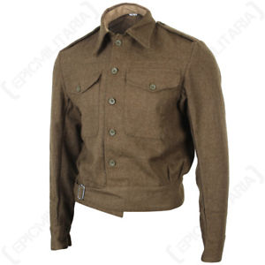 Image is loading British-Army-40-Pattern-Tunic-WW2-Repro-Soldier-