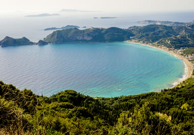 A bay on Corfu Island in Greece