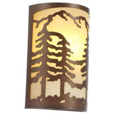 Hampton Bay 1-Light Natural Antler Sconce with Sunset Glass Shade-17190 -  The Home Depot