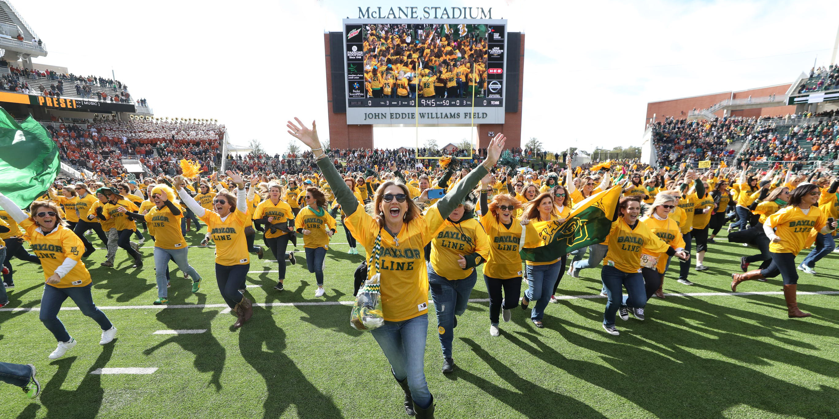 When the Baylor Line was founded back in 1970, it was a spirit organization  for first-year men, who formed a human tunnel on the field at Floyd Casey