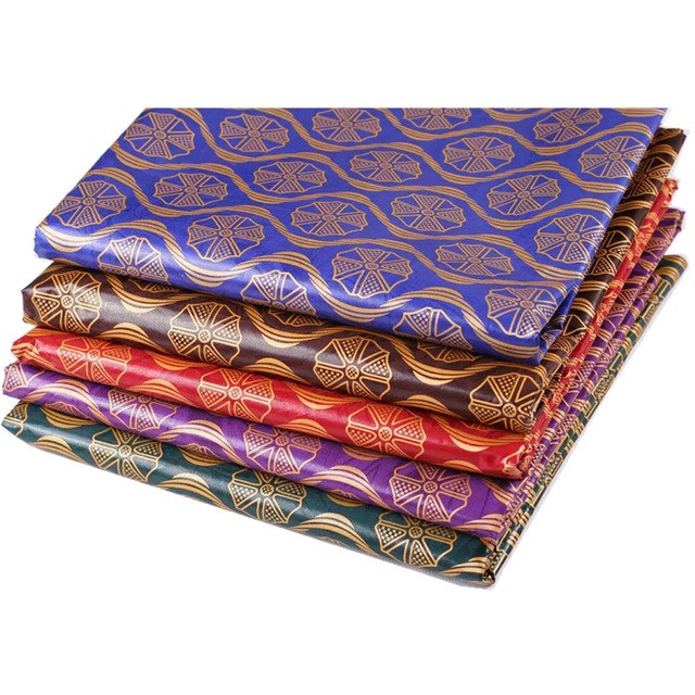 5 colores 2017 nigeriano africano Bazin riche tela bronceado para el paño  de costura HL12