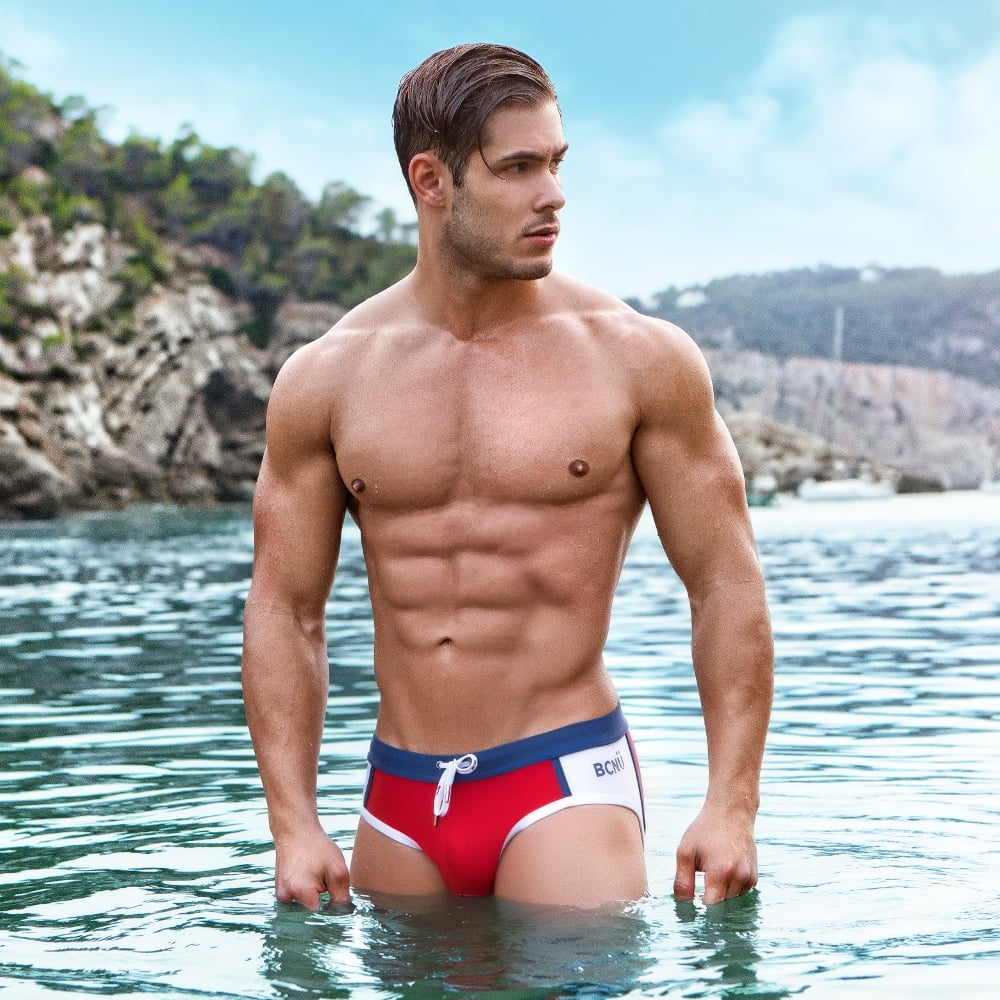 Vivid Swim Brief, Red
