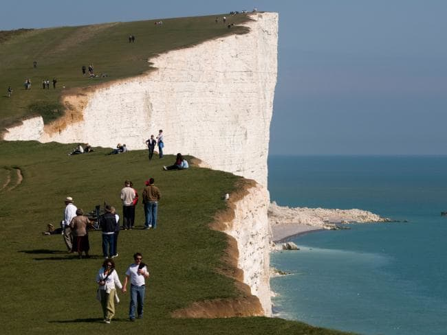 Authorities have issued warnings about straying too close to the edge of  cliffs at Beachy Head