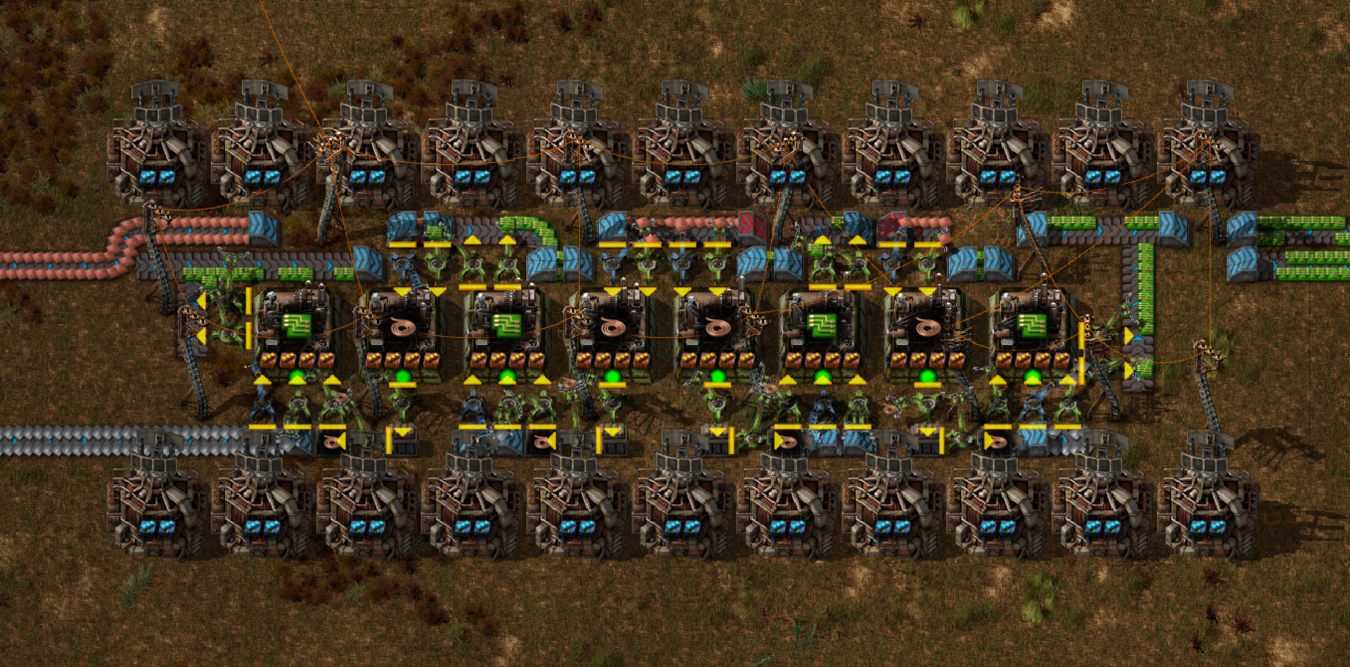 Factorio Green Circuit factory - fully beaconed and tileable - for 0.15 -  Album on Imgur