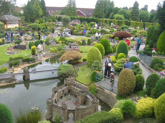Bekonscot Model Village: A view of part of the park