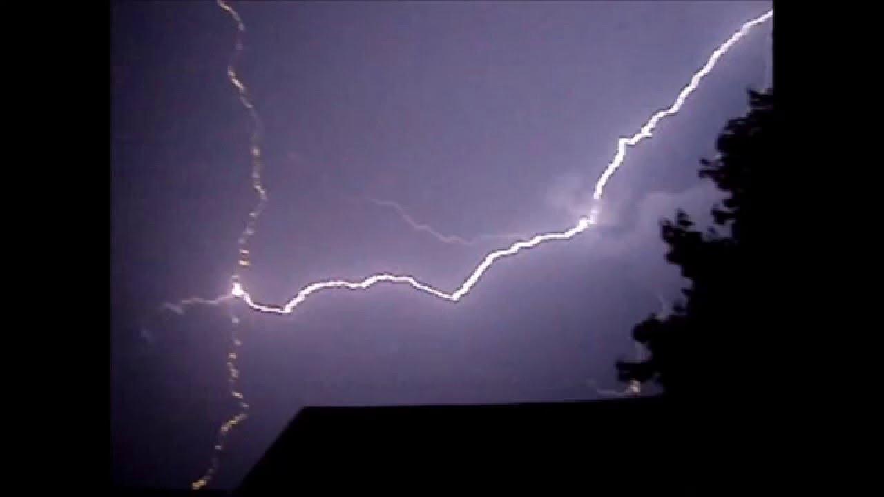 Bead lightning strikes other lightning
