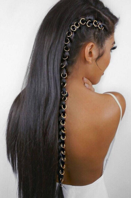 beaded hair