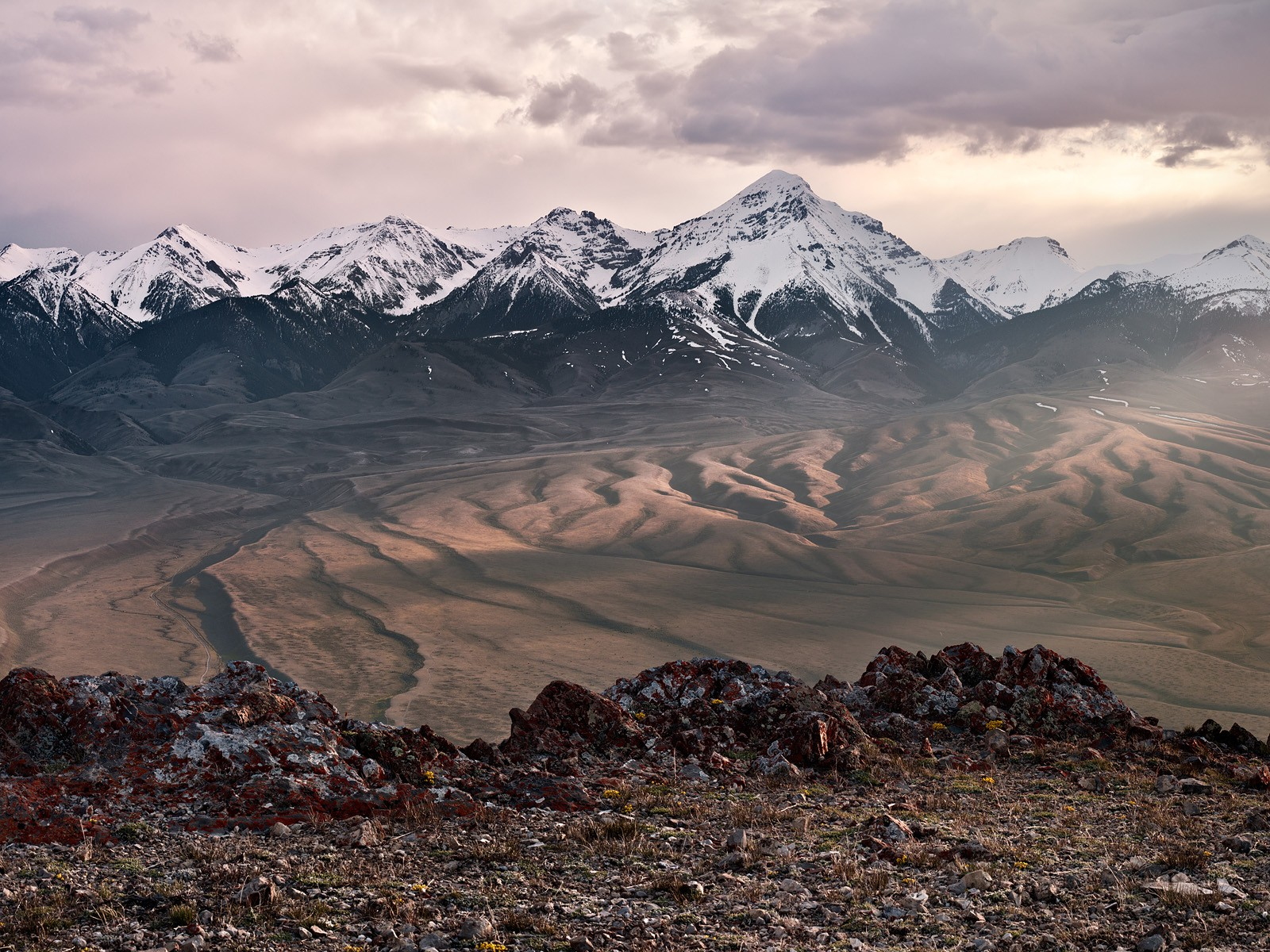 Lemhi Range and Diamond Peak From the Beaverhead Mountains Idaho