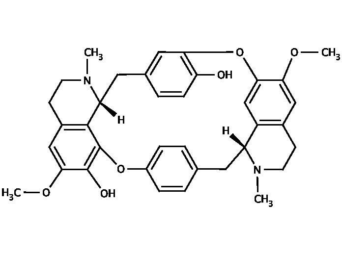Structure for (-)-Bebeerine (436-05-5)