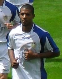 Beckford jugando para el Leeds United en 2009.