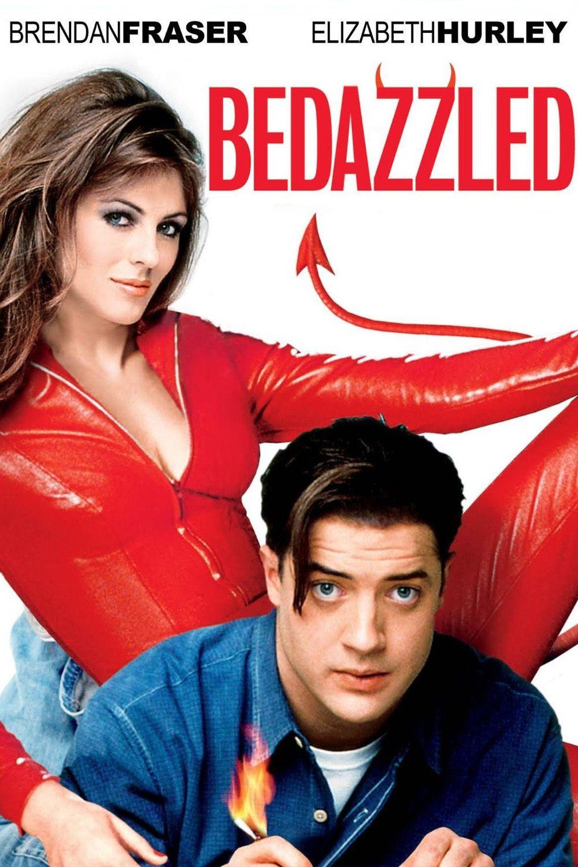 BEDAZZLED (2000) - Brendan Fraser - Elizabeth Hurley - 20th Century-Fox -  DVD Cover Art.