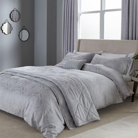 Blume Silver Bedding