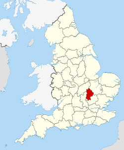 Bedfordshire UK locator map 2010.svg