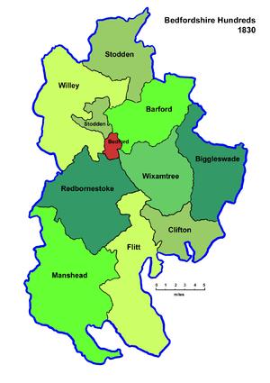 Hundreds of Bedfordshire