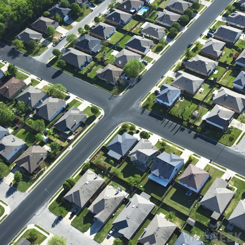 A bedroom community is a suburb or neighborhood that mostly consists of  single family homes.