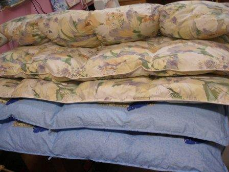 Restoration of old DUVETS – with replacement of a bedtick! Kiev.