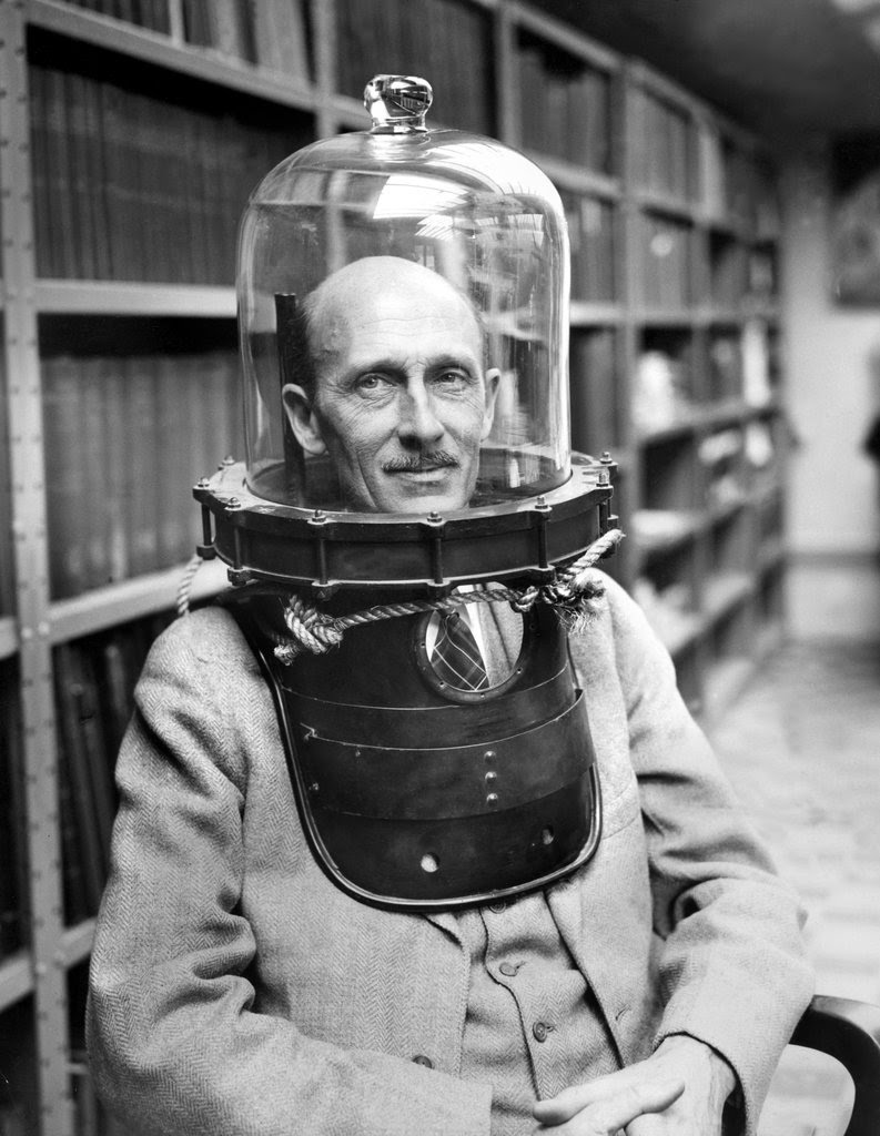 Beebe in Diving Gear